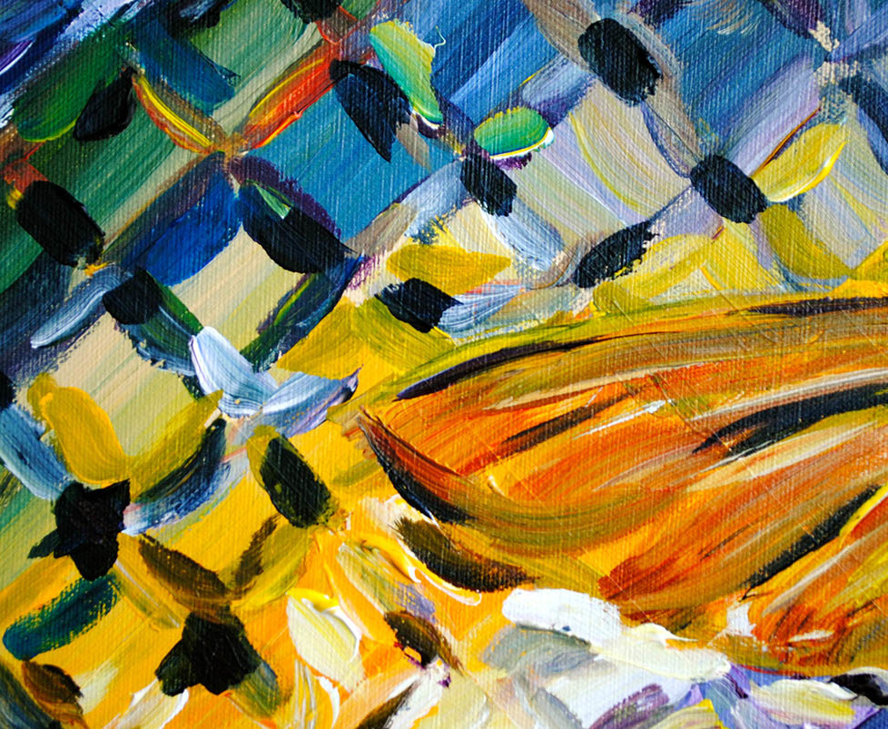 Trout painting charlie hanavich art for What paint for canvas