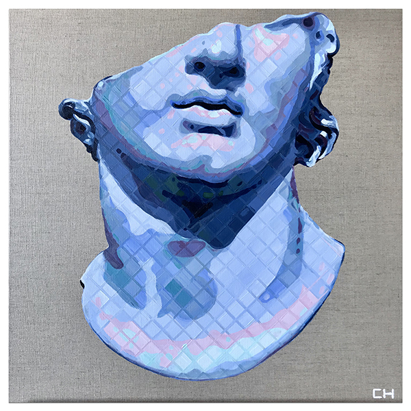 Fragmentary Colossal Head of a Youth painting by Charlie Hanavic