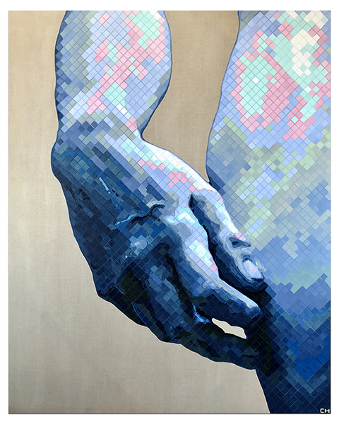David Sculpture painting by atlanta artist charlie hanavich